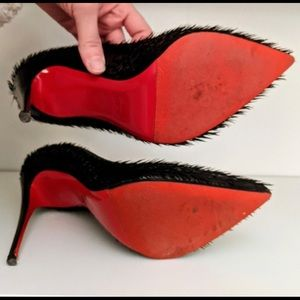 Louboutin | Pigalle Follies Fringed Patent Pumps
